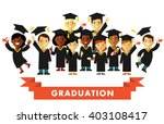 graduation education concept in ... | Shutterstock .eps vector #403108417