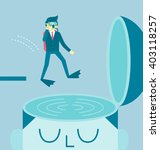businessman jumps to dive in a... | Shutterstock .eps vector #403118257