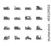 industry cars vecter black icon ... | Shutterstock .eps vector #403129033