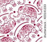 seamless pattern with decorated ...   Shutterstock .eps vector #403141333