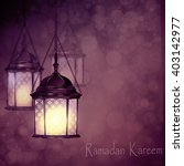 intricate arabic lamps with... | Shutterstock .eps vector #403142977