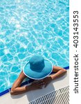 woman in sun hat in the... | Shutterstock . vector #403143553