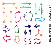 hand drawn arrows set icon... | Shutterstock . vector #403153717