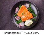 Broiled Salmon With Radish And...