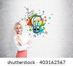 businesswoman with hands... | Shutterstock . vector #403162567