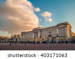 Buckingham Palace In The Evening