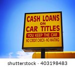 a cash loan or car title loan... | Shutterstock . vector #403198483