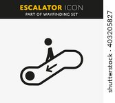 vector escalator icon. stair... | Shutterstock .eps vector #403205827