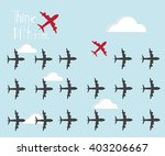 red air plane going different ...   Shutterstock .eps vector #403206667