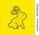 cute rabbit  design  | Shutterstock .eps vector #403208653