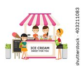 ice cream shop infographics... | Shutterstock .eps vector #403211083