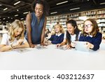 education school teacher... | Shutterstock . vector #403212637