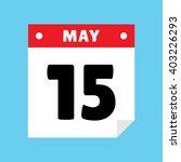 calendar icon flat may 15