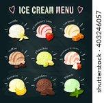 set of cartoon food on... | Shutterstock .eps vector #403246057