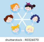 network social group. social... | Shutterstock .eps vector #40326070