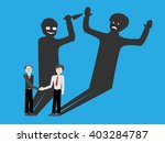 2 businessmen . they are... | Shutterstock .eps vector #403284787