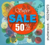 spring sale banner  sale poster ... | Shutterstock .eps vector #403296973