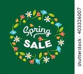 spring sale. vector...   Shutterstock .eps vector #403326007