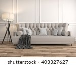 interior with sofa. 3d... | Shutterstock . vector #403327627