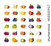 fruits and berries icons set.... | Shutterstock .eps vector #403331917