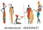 silhouettes of african men and... | Shutterstock .eps vector #403339627