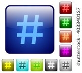 set of color hash tag glass web ...