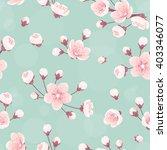 cherry flowers seamless pattern ...   Shutterstock .eps vector #403346077