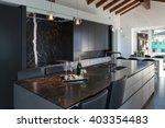 interior of a loft  kitchen... | Shutterstock . vector #403354483