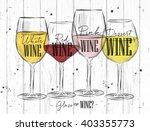 poster wine types with four... | Shutterstock .eps vector #403355773
