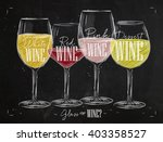 poster wine types with four... | Shutterstock .eps vector #403358527