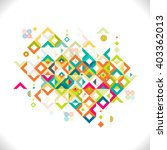 abstract colorful and creative... | Shutterstock .eps vector #403362013