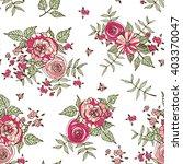 floral vector seamless pattern | Shutterstock .eps vector #403370047