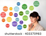 touchpoint concept. marketing.... | Shutterstock . vector #403370983