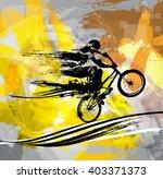 bmx biker | Shutterstock .eps vector #403371373