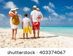 back view of a happy family at... | Shutterstock . vector #403374067