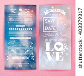 pink save the date marriage ... | Shutterstock .eps vector #403379317
