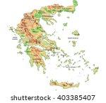 high detailed greece physical... | Shutterstock .eps vector #403385407