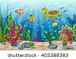 illustration of underwater... | Shutterstock .eps vector #403388383
