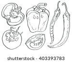 vegetables pattern. tomato. ... | Shutterstock . vector #403393783