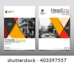 yellow annual report brochure... | Shutterstock .eps vector #403397557
