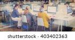 library academic computer... | Shutterstock . vector #403402363