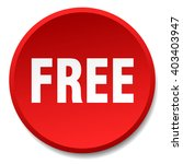 free red round flat isolated...