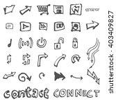 business doodles | Shutterstock .eps vector #403409827