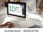 idea creative design editorial...   Shutterstock . vector #403413763