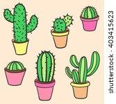 Cactus Set. Vector Collection...