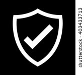 shield with checkmark symbol... | Shutterstock .eps vector #403433713