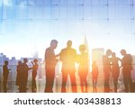 silhouette business people... | Shutterstock . vector #403438813