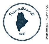maine map in vintage discover... | Shutterstock .eps vector #403444723