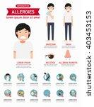 allergies infographics.vector... | Shutterstock .eps vector #403453153