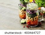 healthy homemade mason jar... | Shutterstock . vector #403464727
